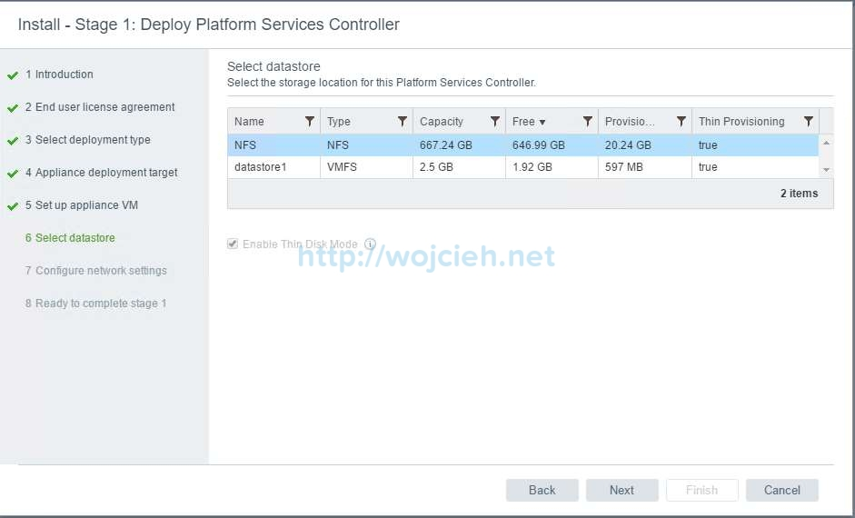 vCenter Server Appliance 6.5 with External Platform Services Controller - 8