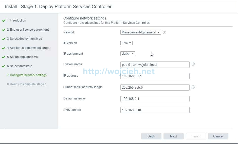 vCenter Server Appliance 6.5 with External Platform Services Controller - 9