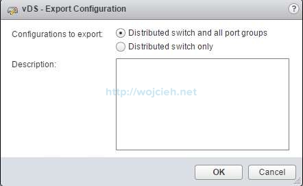 Backup vSphere Distributed Switch - 2