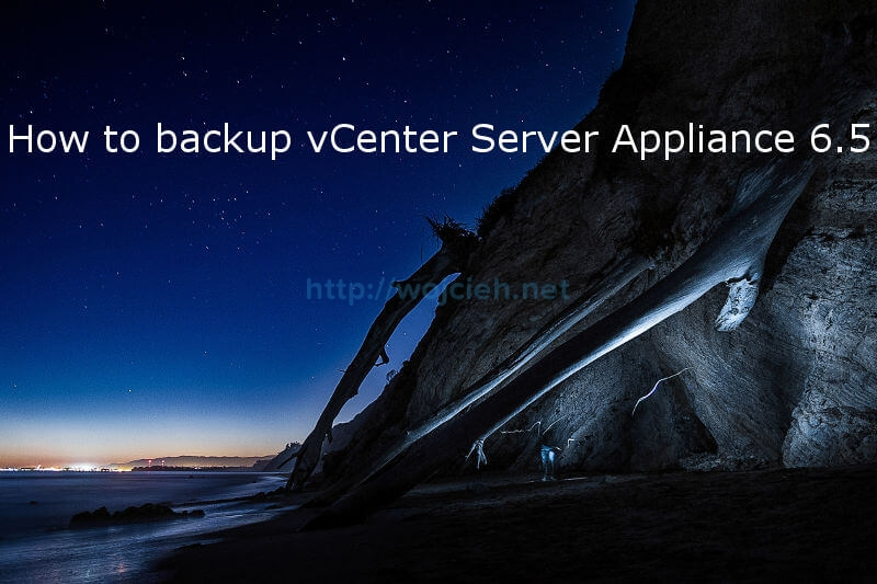 How to backup vCenter Server Appliance 6.5 - logo