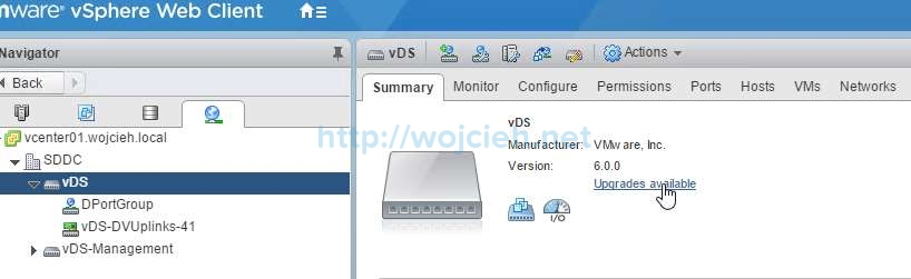 How to upgrade VMware Distributed Switch - 1a