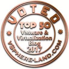 Voted #43 Top vBlog 2017