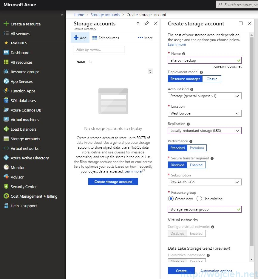 Send VMware backups to the cloud - Altaro Offsite Copies to an Azure Cloud Storage - 2 - alternative