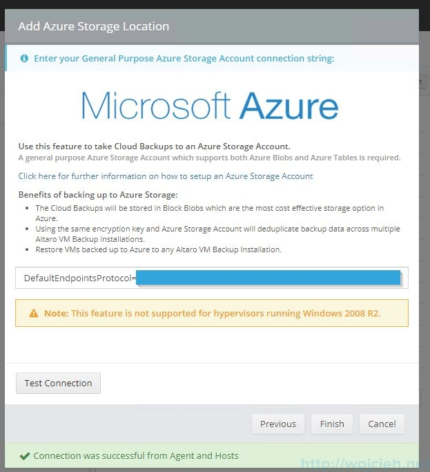 Send VMware backups to the cloud - Altaro Offsite Copies to an Azure Cloud Storage - 7